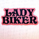 LADY BIKER 4 INCH PATCH (Sold by the piece or dozen ) -* CLOSEOUT AS LOW AS 50 CENTS EA