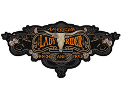 LADY RIDER BORN BREED PATCH (Sold by the piece)