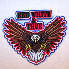 RED WHITE & TRUE 4 INCH  PATCH (Sold by the piece) CLOSEOUT AS LOW AS .75 CENTS EA