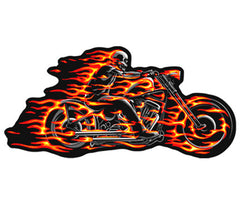 FLAMING BIKE PATCH (Sold by the piece)