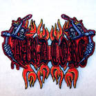 HARD CORE NEEDLES FLAMES 4 INCH PATCH (Sold by the piece or dozen ) CLOSEOUT AS LOW AS 75 CENTS EA