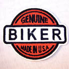 GENUINE BIKER 3 1/2 IN PATCH (Sold by the piece)