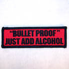 BULLET PROOF 4 INCH PATCH (Sold by the piece or dozen ) -* CLOSEOUT AS LOW AS 50 CENTS EA