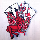 DEVIL BABE CARDS 4 IN PATCH (Sold by the piece OR dozen ) CLOSEOUT AS LOW AS 75 CENTS EA