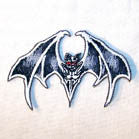 CREEPY BAT 3 INCH  PATCH (Sold by the piece or dozen ) CLOSEOUT AS LOW AS 50 CENTS EA