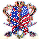 UNITED BY BLOOD 4 inch PATCH ( Sold by the piece or dozen ) *- CLOSEOUT AS LOW AS 75 CENTS EA
