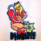 DYNAMITE CHICK 4 INCH  PATCH (Sold by the piece OR dozen ) -* CLOSEOUT AS LOW AS 75 CENTS EA
