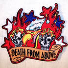 DEATH FROM ABOVE 4 INCH PATCH (Sold by the piece or dozen ) CLOSEOUT AS LOW AS 75 CENTS EA