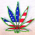 AMERICAN POT LEAF 3 INCH PATCH (Sold by the piece or dozen ) -* CLOSEOUT AS LOW AS 75 CENTS EA