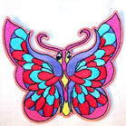 COLOR BUTTERFLY 3 inch  PATCH (Sold by the piece or dozen) - * CLOSEOUT NOW AS LOW AS 75 CENTS EA