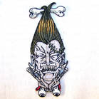 SHRUNKEN HEAD 4 INCH PATCH (Sold by the piece or dozen ) CLOSEOUT AS LOW AS 75 CENTS EA
