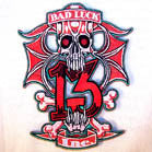 BAD LUCK 13 INC EMBROIDERED 4 INCH PATCH (Sold by the piece) CLOSEOUT AS LOW AS 75 CENTS EA