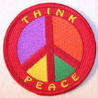 THINK PEACE PEACE PATCH (Sold by the piece)