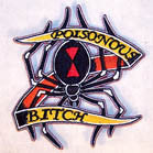 POISONOUS BITCH 4 INCH PATCH ( Sold by the piece or dozen ) *- CLOSEOUT AS LOW AS 75 CENTS EA