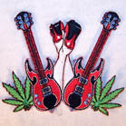 SEX DRUGS ROCK & ROLL 4 INCH PATCH (Sold by the piece  or dozen ) -* CLOSEOUT NOW AS LOW AS 75 CENTS EA