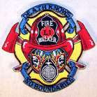 FIRE WALKER 4 INCH PATCH ( Sold by the piece or dozen ) *- CLOSEOUT AS LOW AS 75 CENTS EA