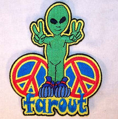 FAR OUT ALIEN 4 inch PATCH(Sold by the piece or dozen ) -
