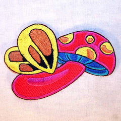 FLYING SHROOM 4 inch PATCH (Sold by the piece or dozen ) -* CLOSEOUT AS LOW AS .75 CENTS EA