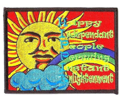 PEACE SUN RAINBOW 4 INCH PATCH  (Sold by the piece or dozen) - * CLOSEOUT NOW AS LOW AS 75 CENTS EA