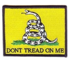 DONT TREAD ON ME 3 inch PATCH (sold by the piece or dozen ) *- CLOSEOUT NOW AS LOW AS $ EA