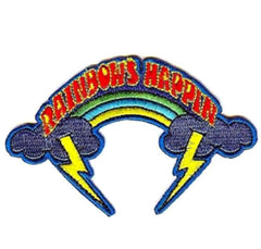 RAINBOW HAPPING 4 INCH PATCH  (Sold by the piece or dozen) - * CLOSEOUT NOW AS LOW AS 50 CENTS EA