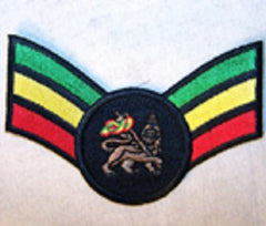 LION RASTA STRIPS 4 INCH PATCH (Sold by the piece) CLOSEOUT $ 1.25 EA