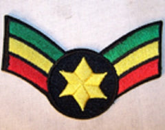 STAR RASTA STRIPS 4 INCH PATCH (Sold by the piece) CLOSEOUT $ 1.25 EA
