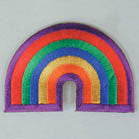 RAINBOW 3 INCH PATCH (Sold by the piece or dozen ) CLOSEOUT NOW AS LOW AS 50 CENTS EA