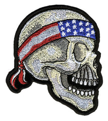 USA SKULL BANDANA PATCH (Sold by the piece)