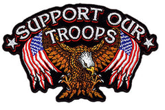 SUPPORT OUR TROOPS 4 INCH PATCH (Sold by the piece)
