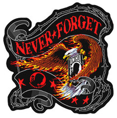 NEVER FORGET EAGLE PATCH (Sold by the piece)