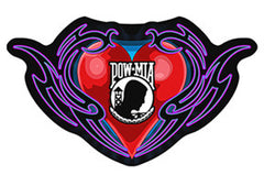 POW MIA HEART PATCH (Sold by the piece)
