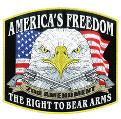 RIGHT TO BEAR ARMS EBRODIERED PATCH  (Sold by the piece)