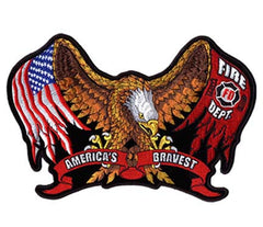 FIRE DEPT BRAVEST PATCH (Sold by the piece)