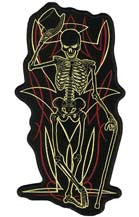SKELETON TOP HAT PATCH (Sold by the piece)