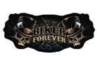 BIKER FOREVER SKULLS PATCH (Sold by the piece)