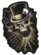 SKELETON TOP HAT WEB SKULL PATCH (Sold by the piece)