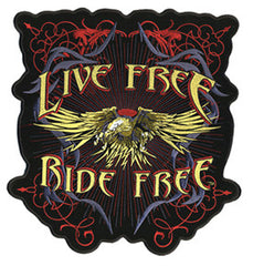 LIVE FREE RIDE FREE PATCH (Sold by the piece)