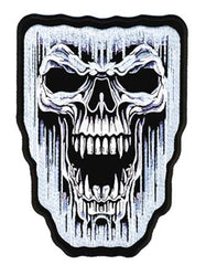 ICICLE SKULL PATCH (Sold by the piece)