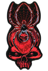 BLACK WIDOW SKULL PATCH (Sold by the piece)