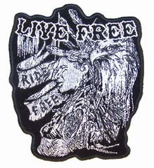 LIVE FREE INDIAN BRAVE PATCH (Sold by the piece)