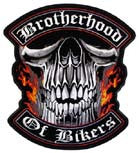 BROTHERHOOD OF BIKER PATCH (Sold by the piece)