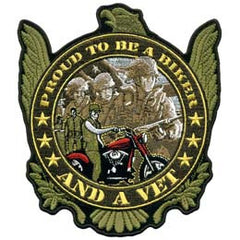 BIKER AND A VET PATCH (Sold by the piece)