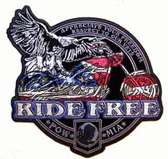 RIDE FREE POW PATCH (Sold by the piece)