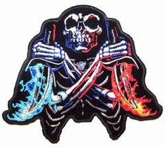 SKULL FLAME DAGGERS PATCH (Sold by the piece)