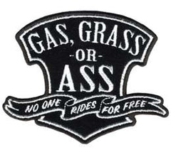 GAS GRASS OR ASS 4 INCH PATCH (Sold by the piece)