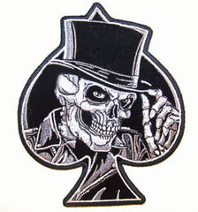 SKULL TOP HAT SPADE PATCH (Sold by the piece)