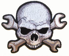 WRENCH SKULL PATCH (Sold by the piece)
