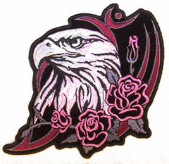 EAGLE HEAD ROSES PATCH (Sold by the piece)