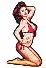 BIKINI PIN UP GIRL 5 INCH PATCH (Sold by the piece)